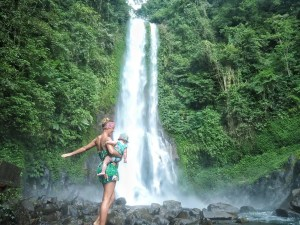 Indonesia With Kids : Bali And Gili waterfall