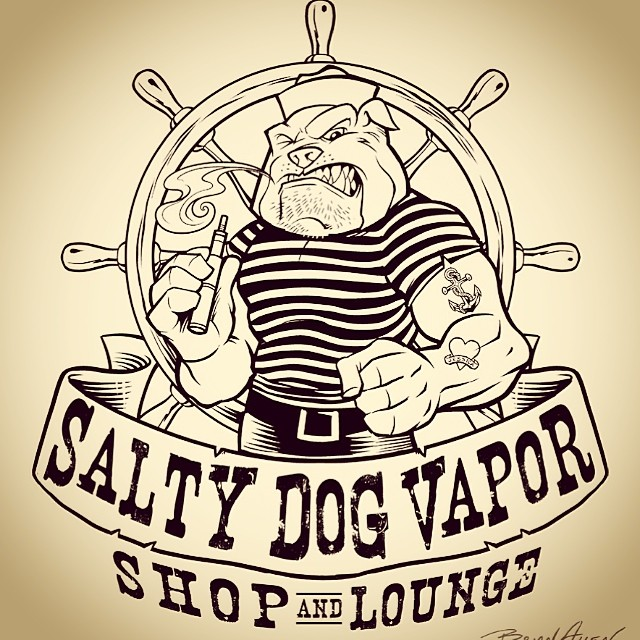 The inking of Salty Dog Vapor.