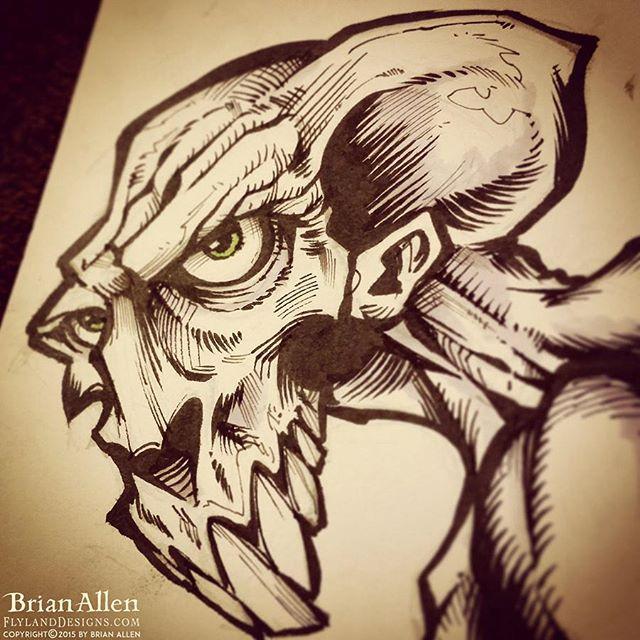 Weird Creature ink Sketch