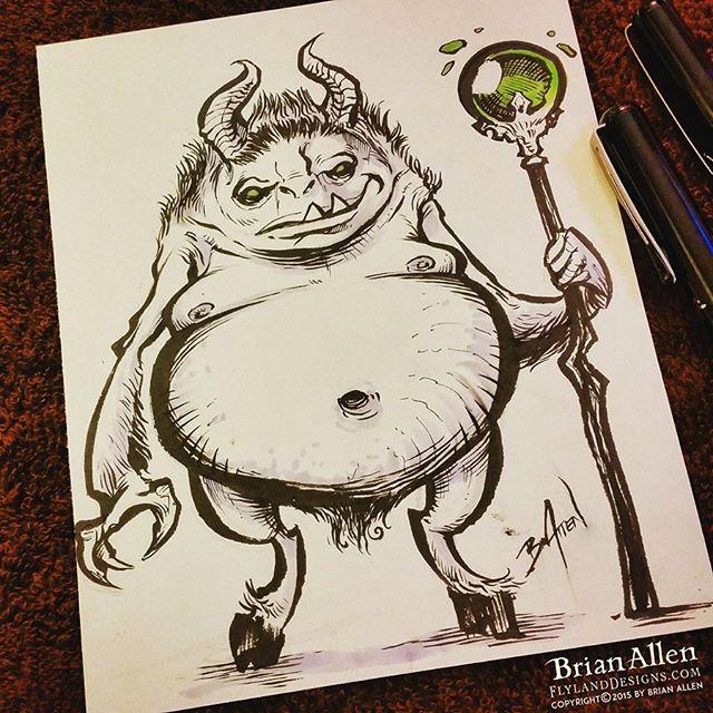 Frank the demon ink sketch