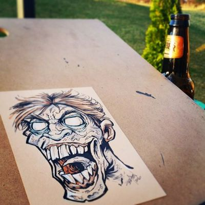 Finally warm enough to draw zombies in the great outdoors!