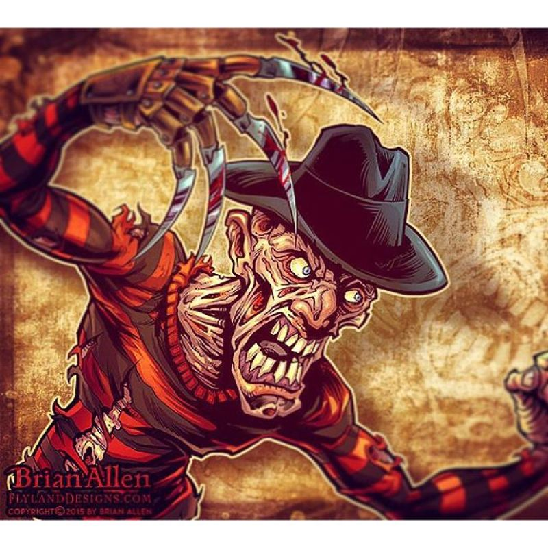Here's my illustration of Freddy for a horror documentary I'm working on for a client.#freddy #horror #mangastudio #photoshop #illustration #tshirt #art #instaart #instaartist #picoftheday #igdaily #followme