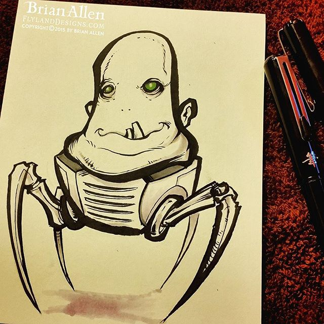 Blob Alien Ink Sketch