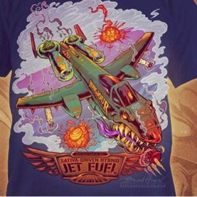 Here's the finished T-shirt design for Jet Fuel - you can pick it up from http://Bongjour.com. Any critiques?Illustrated by Brian Allen, FlylandDesigns.com#mangastudio #weed #illustration #tshirt #art #instaart #instaartist #jetfuel #pot #followme