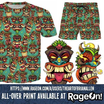 Hope you had a great Thanksgiving Turkey-Killers!  Like everyone else, I'm trying to take your money today.  So you might as well just hand it over and pick up this new repeatable tiki pattern beach shirt or swim shorts I created.  Nothing says November like a new pair of swim trunks!https://www.rageon.com/a/users/TheArtofBrianAllen#tiki #beach #swim #apparel #allover #rageon New Artwork From Instagram