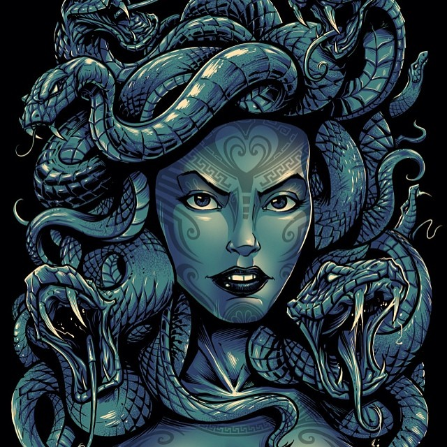 The final medusa. You can buy this shirt at www.fitoutapparel.com