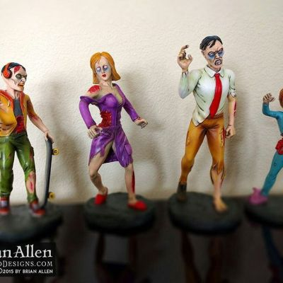 Here were the final zombie toy figurine sculptures that were created and hand-painted from my concept illustrations as reference.  The figurines will be mass produced and sold at zombie stores near you.#art #illustration #character #zombie #toy #freelance #FlylandDesigns New Artwork From Instagram