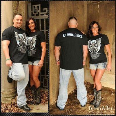Some handsome looking folks wearing a gargoyle shirt I designed for Eternal Life and Fitness!⠀#art #illustration #freelance #tshirt #FlylandDesigns New Artwork From Instagram