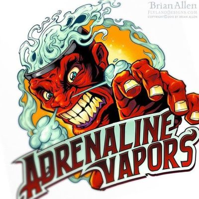 This is a fun logo I had the pleasure of working on earlier this year for a new vaping brand called Adrenaline Vapors -  My first pass at this was even angrier, but we toned it down a bit in the end.⠀#art #illustration #logo #vaping #freelance #FlylandDesigns New Artwork From Instagram