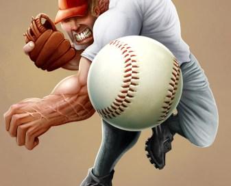 Baseball pitcher by Brian Allen