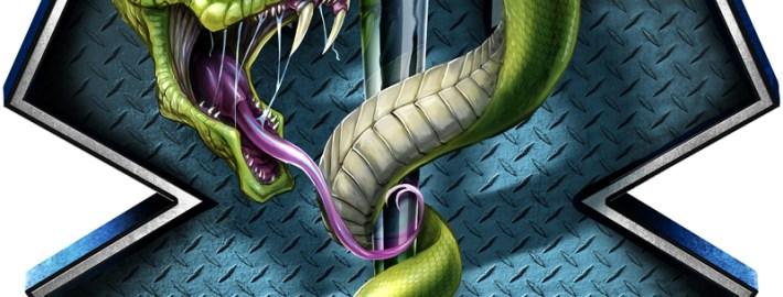 EMS Snake digital painting