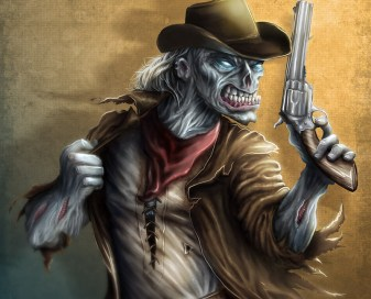 The-Drifter Cowboy Zombie digital painting