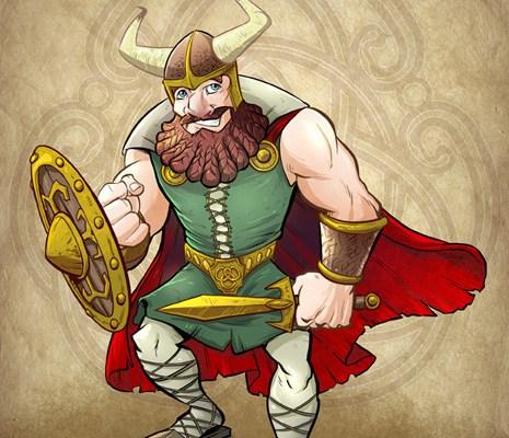 Viking Warrior concept design by Brian Allen
