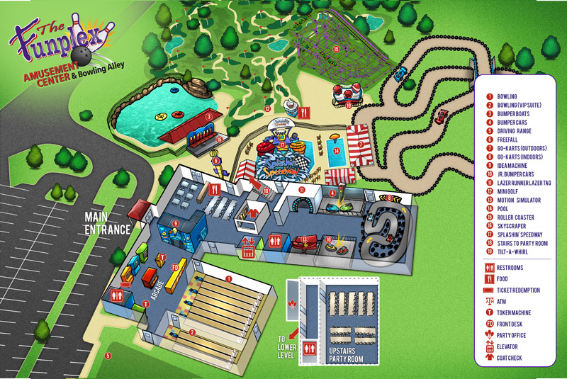 Illustrated Amusement Park Map by Brian Allen