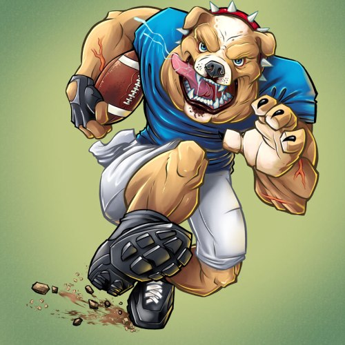 Bull Dog Football Player