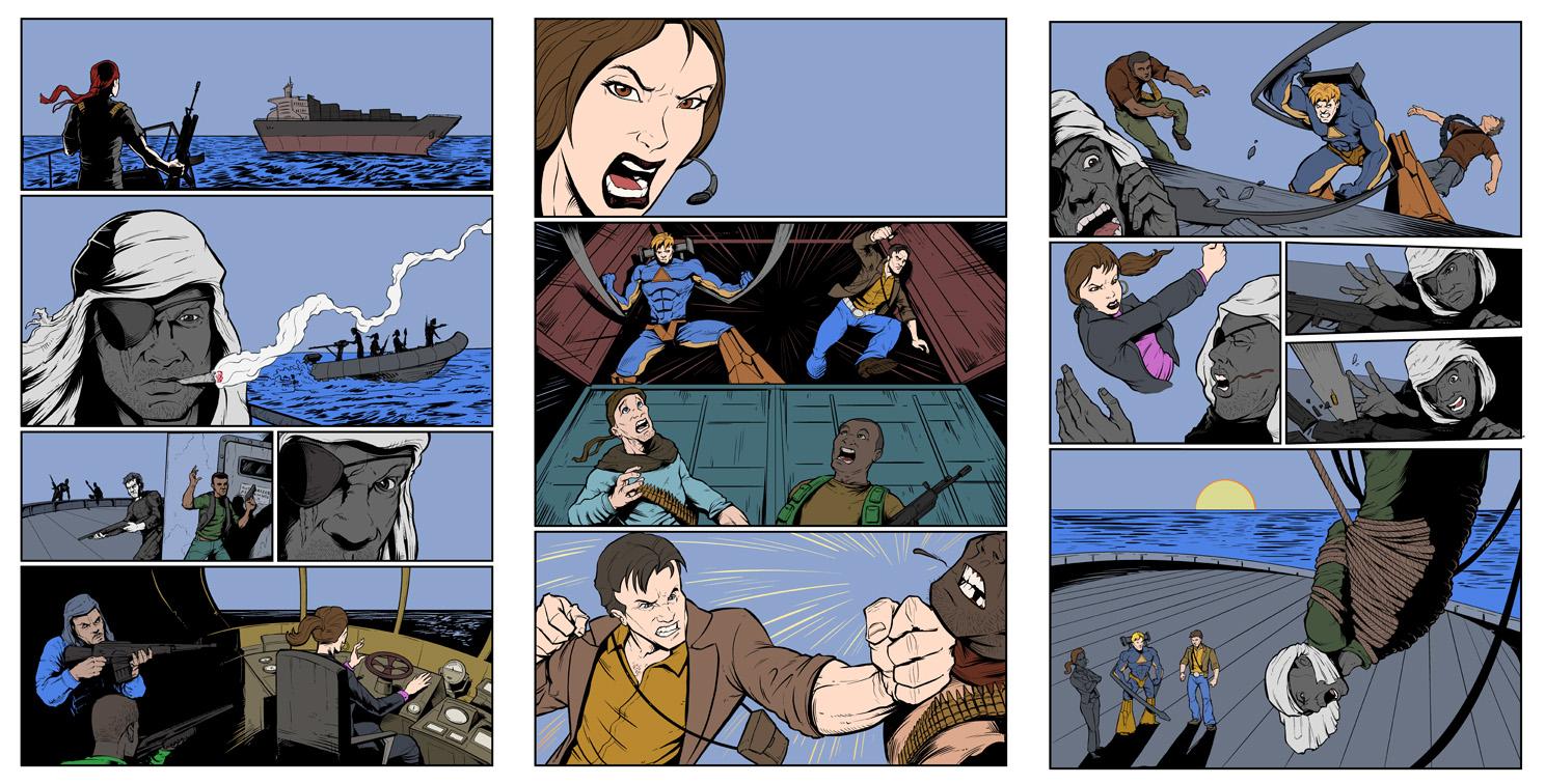 Consol Alliance comic book art process
