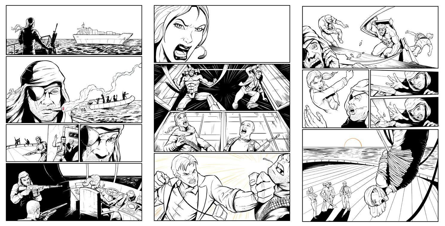 Consol Alliance comic book process