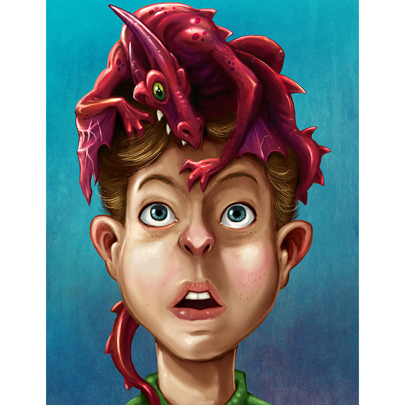 Dragon Boy Art Print