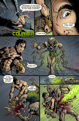 The Courier comic