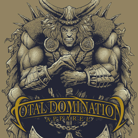 T-Shirt illustration of a viking for a mma apparel brand