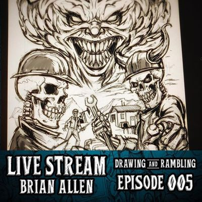 Hey guys I'm drawing a t-shirt design LIVE right now 3PM EST on YouTube, Twitch, and Facebook - please join me and feel free to ask questions.  I'm lonely.