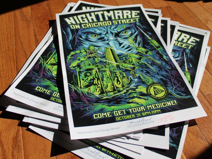 gig poster for theNightmare on