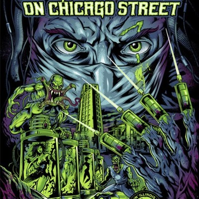 Very pleased to share my finished gig poster for the Nightmare on Chicago Street concert this weekend!  I had 50 signed and numbered prints made, and I'm selling them at https://www.flylanddesigns.com/shop/  So happy with how this turned out - it was extremely challenging for me.  My wife and I will be at the event selling these prints and my other artwork, so if you're in the area, please stop by! #nocs #nightmareonchicagostreet #gigposter #zombieart #silkscreenart
