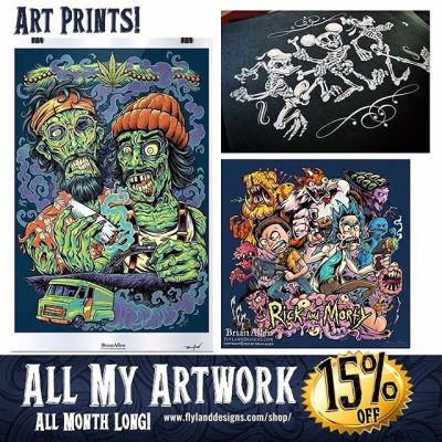 Tis the season for buying stuff - it's patriotic.  It's your DUTY.  So I've marked everything down 15% in my art shop this month - makes a great gift for all the demented and sick people on your list! http://www.flylanddesigns.com/shop/
