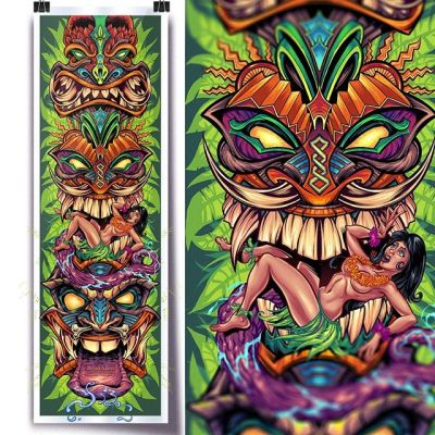 Thanks so much for all the positive feedback on my tiki totem artwork I put together recently! I just printed up a bunch of prints of the artwork and put them up in my shop (link in bio) - all prints are signed and on thick high-quality paper.  Thanks for your support!  #tikiart #tiki #skateboardart #artprint #beachart #beach #clipstudiopaint #wacomart