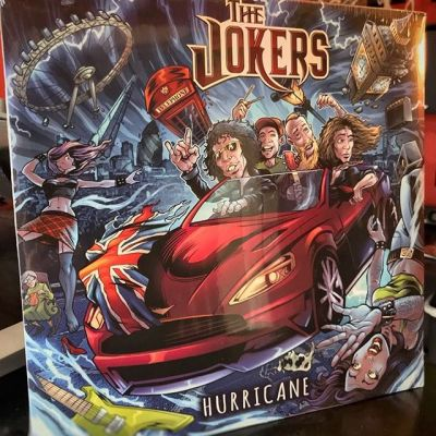 The UK band The Jokers just sent me their vinyl album with my artwork on it - so exciting to see the artwork in real life. Thanks guys, looking forward to working with you again! #albumart #thejokers #ukrock #mangastudio #clipstudiopaint #illustration #tshirtdesign #freelance #hire