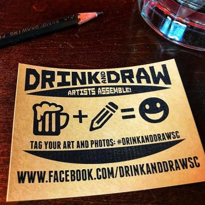 Very excited for the #drinkanddraw event for local artists of State College PA tonight from 7 to 9 at Champs sports grill. See you there!!