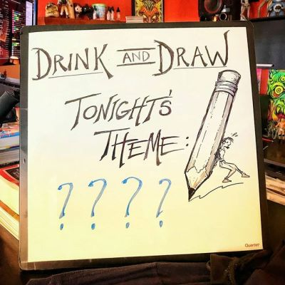 What should we draw tonight at the Drink and Draw in State College PA at Champs? I was thinking Robots might make a good theme. Please share your ideas! If you're in the area, please come join us! #drinkanddrawsc #drinkanddraw #drawing