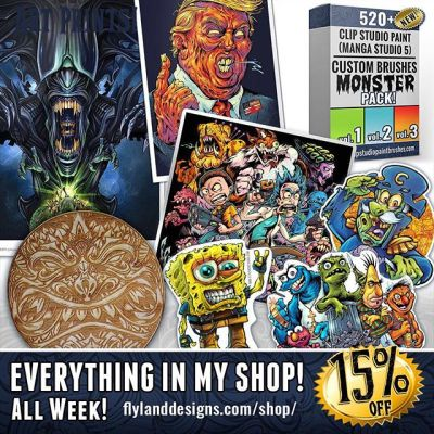 I completely redesigned my shop in preparation for my webinar with Clip Studio Paint and Wacom today! Everything in my shop for the rest of the week will be 15% off. Stickers, Signed Prints, Wood Coasters, and my custom brushes for Clip Studio Paint.https://www.flylanddesigns.com/shop/#art #vinylstickers #mangastudio #clipstudiopaint #illustration #artprints #freelanceartist #wacomcintiq