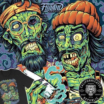 Been wanting to do this for a long time: I've partnered with my friend John J Serrato to create our own apparel brand, called Californicated Republic! I'll be rolling out all the designs available featuring my cannabis-themed artwork throughout the next couple weeks. Our first design features my Cheech and Chong zombies I illustrated in Clip Studio Paint.@cheechandchong Available now at http://californicatedrepublic.com/ ....#420 #cannabiscommunity #marijuana #art #Californicated #hightimes #cannabisbrand #cannabis #weed #weedstagram #topshelf #cbd #indica #sativa #hybrid #cheechandchong #marijuana #art#BrianAllen