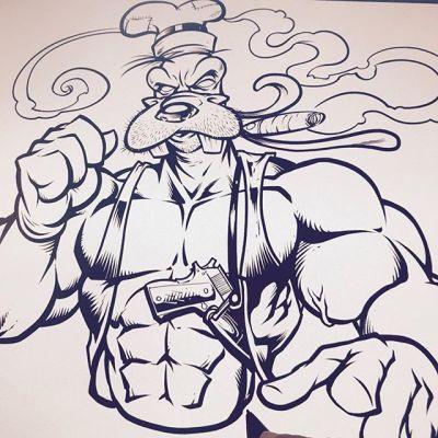 Goofy was always clubhouse security...#art #originalartwork #mangastudio #clipstudiopaint #illustration #hireanillustrator #freelanceartist #wacomcintiq