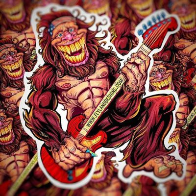 Just printed a new batch of Sasquatch stickers with @vinyldisorder - Four inches, outdoor quality vinyl. Grab them in Volume 7 from my shop.www.flylanddesigns.com/shop/....#sasquatch #rock #rockandroll #gutair #rockingit #vinylart #vinylcollector #stickerslap #stickerart #diecutstickers