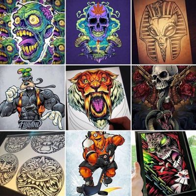 Here are my most popular nine posts of the year - pretty fun mix. Gritty is in there of course. My Spawn tribute. Zombie stickers. My tiki coasters. And for whaterver reason, a Pharoh alien! Happy New Year everyone!#topnineart #topnine #bestnine #topnine2018 #bestnine2018