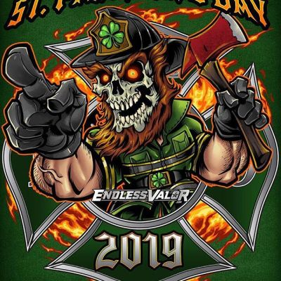 And here's the finished St. Patrick's Day skull leprechaun illustration I created - pretty happy with hos this turned out. Hope it's not too frightening - tried to make the skull friendly, but it's tricky to make a skull smile. Available for licensing - message me.#stpatricksday #leprechaun #firefighterlife #challengecoin #patchdesign #firefighterpatch #emslife