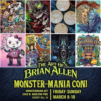 Do I have any friends or fans in the Philadelphia, New Jersey area? I'm going to be at Monster-Mania Convention slinging my wares March 8-10th. Please come out and see me. If you are a Philadelphia Flyers fan, I am the artist who designed GRITTY - looking forward to your high-fives or face-punches, depending on how you feel about him.#monstermaniacon #horrorart #horrorconvention