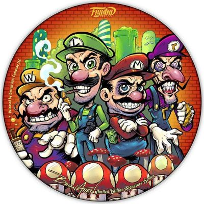 Evil Mario Crew LE Disc Golf Disc -I will have only 10 signed editions available • Full foil on Discraft discs • Want one?https://www.flylanddesigns.com/shop/#discgolf #frisbeegolf #discraftdiscs #teamdiscraft #detroitdisccompany #disc