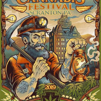 Finished poster design for the PA Cannabis Festival in Scranton PA this weekend. This was a really different piece for me - tried to stick to a limited color pallete and muted colors. The festival should have over 10k people attending - can't wait!@penncannafest #legalizePA #electriccity #penncannafest#cannabisart #marijuanaartist #cannabiscommunity