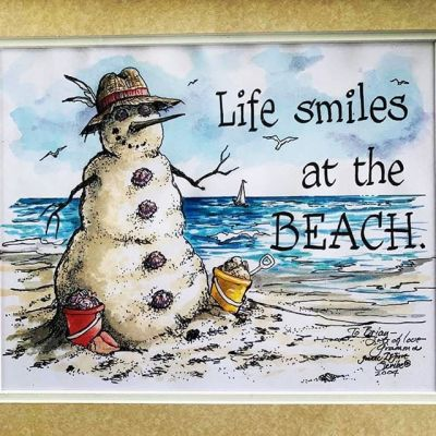 I have very sad news. My grandma Joanne DeFiore passed away this weekend unexpectedly.This artwork of the snowman on the beach is something that she drew that I've always loved and wanted to share with you all.She was one of my best friends in the world. She was a gifted artist and calligrapher. My kids adored their GG DeFiore and she was always thinking of them. Rehoboth Beach was a part of her soul, and Rehoboth has lost one of its best and most loyal friends. You can't walk 100 ft without seeing something she's left her mark on. She helped my Poppa through a very difficult time leading up to his death and I am very grateful for that. Since my brothers and I were very young, she has always encouraged creativity and expression, and I owe a lot to her. She's travelled the world and was involved in countless community organizations, clubs, and activities, yet she still made time for everyone and always had you in her thoughts.