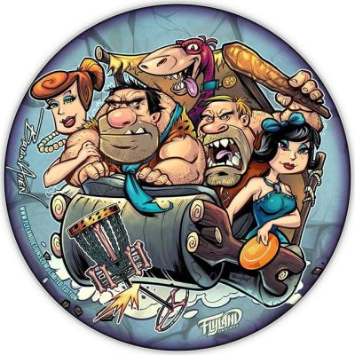 My Flintstones parody disc now available for PREORDER! Every month I release a new limited edition Metallic Foil Disc Golf Disc. Only 40 will ever be made (25 available at this posting). Discraft Buzzz discs. Signed and numbered.Shipping at the end of July.http://bit.ly/flyland-discgolf••••#flintstonesparody #flinstonesart #discgolf #frisbeegolf #discraftdiscs #teamdiscraft #detroitdisccompany #disc