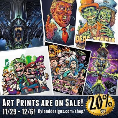 Black Friday/Cyber Monday Art Print Sale!Now is the time to stock up on all those artprints you wanted for yourslelf or for a friend!I will be having an online sale from November 29th - December 6th, come check it out!https://www.flylanddesigns.com/shop/#blackfriday #artprints #artwork #mario #rickandmorety #trump #alien #parody #sale