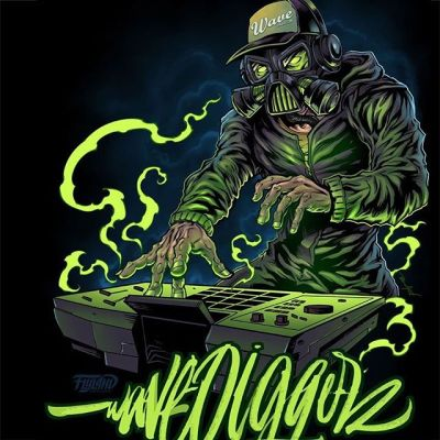 Mascot design I created for a DJ that we both really liked. Green lightning and energy light the gas-mask-wearing character up in a smokey blue haze. Drawn in Clip Studio Paint.•••#dj #mascot #characterdesign #musicart #art #mangastudio #clipstudiopaint #illustration #hireanillustrator #freelanceartist #wacomcintiq