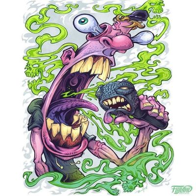 Bad Breath illustration I created for a Client's apparel brand a few years back that I always dug.Art prints available of this in my shop!•••#art #hiphopart #hiphop #cartoonart #sickart #mangastudio #clipstudiopaint #illustration #hireanillustrator #freelanceartist #wacomcintiq