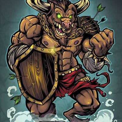 Raging Minotaur character design I created for a client last year - one of my favorites for this line of weight-lifting supplement packaging designs.#minotaur #minotaurmascot #packagedesign #packagedesigner #boxart #labeldesign #graphicdesign
