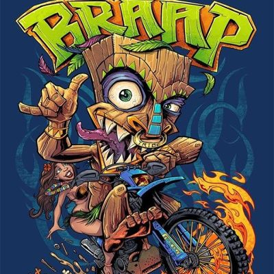 Tiki Dirtbike character I illustrated for a popular motocross YouTuber a few years back. Braaap!Hit me up if you need a mascot created!•••#braaap #dirtbike #motocross #tikiart #tikibar #beachart #tikitotem #surfart #tikiartist #beach