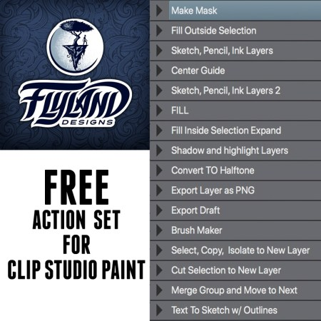 Free Action Set for Clip Studio Paint