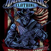 American Patriot Skull T-Shirt Design